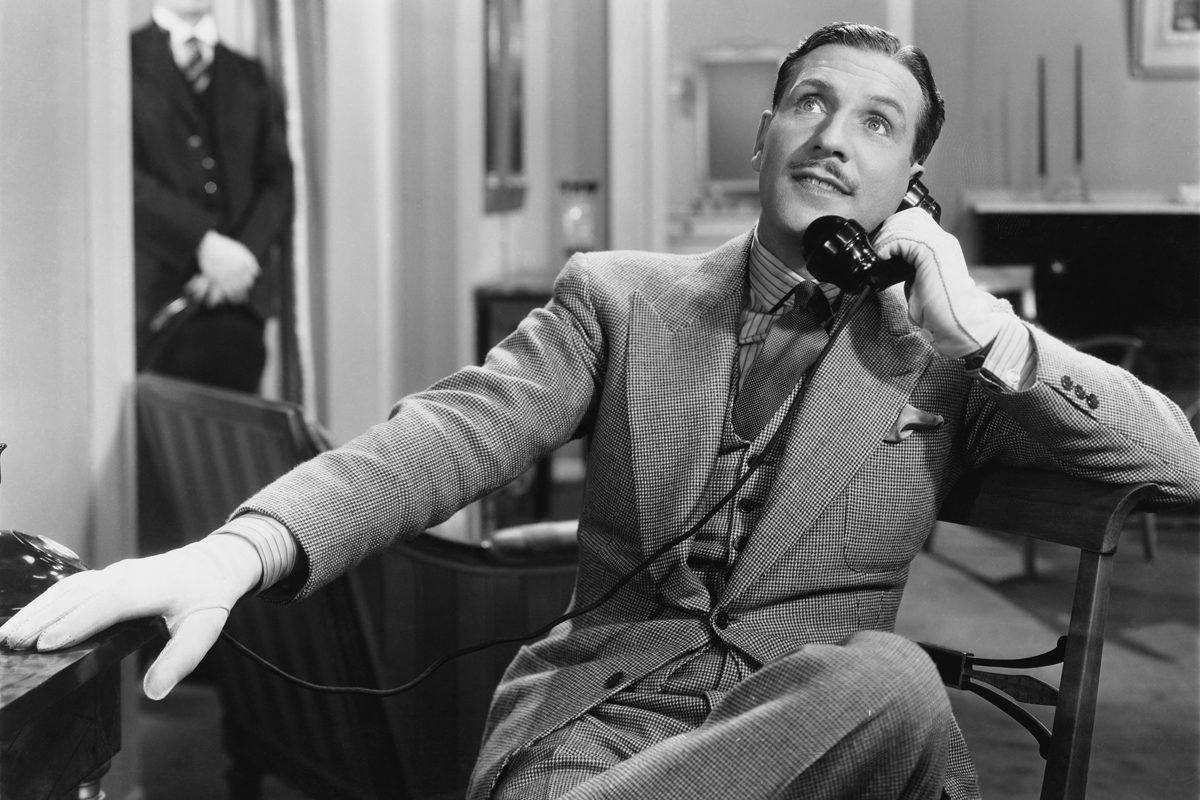 vintage gentleman telephone